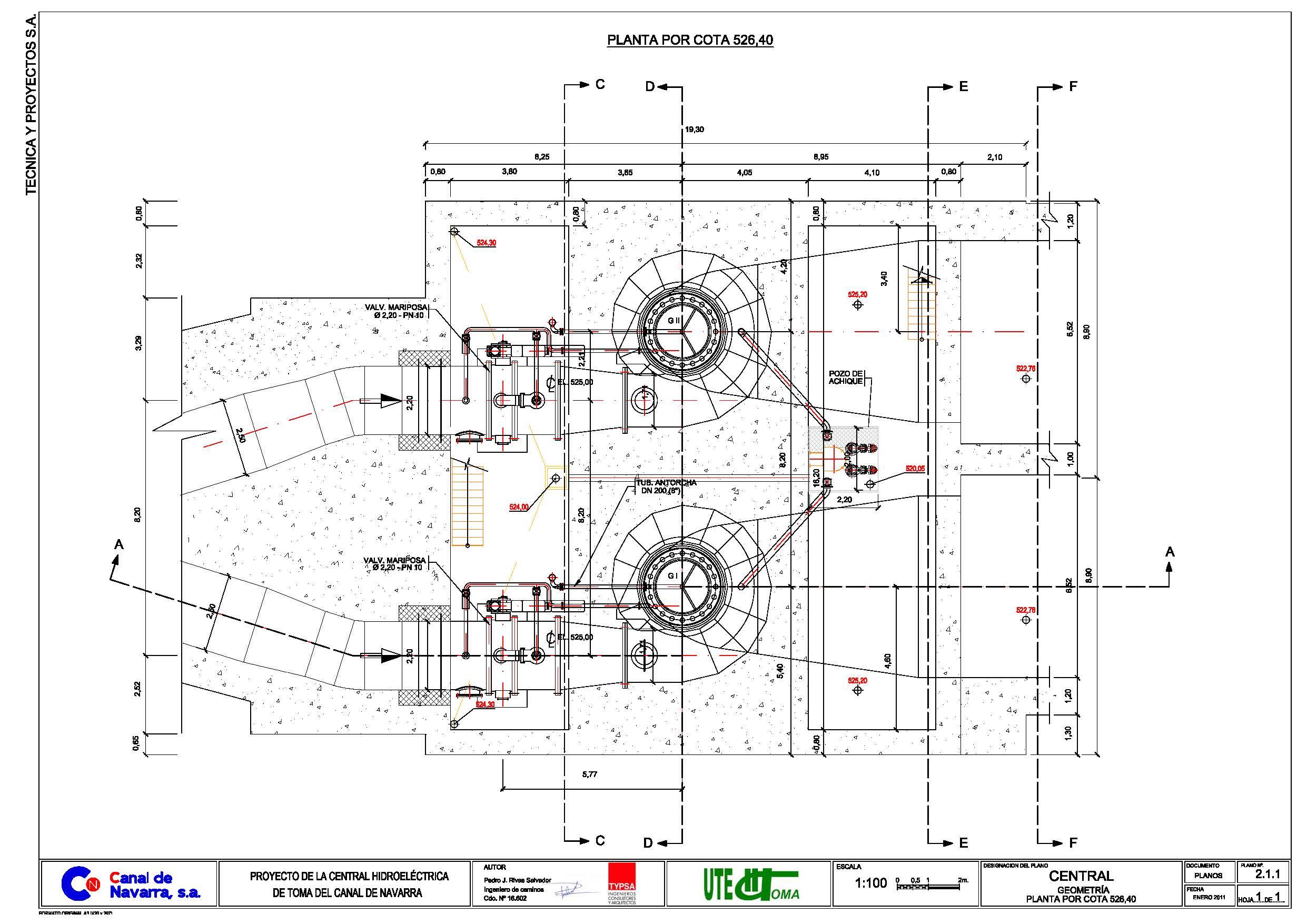 Central hidroel ctrica de toma del canal canasa for Paginas para crear planos